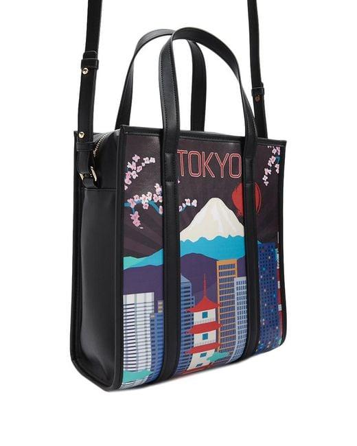 Forever 21 - Black Tokyo Graphic Satchel Bag - Lyst