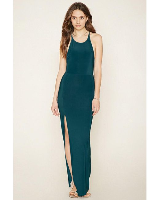 Forever 21 | Green Contemporary Slit Maxi Dress | Lyst