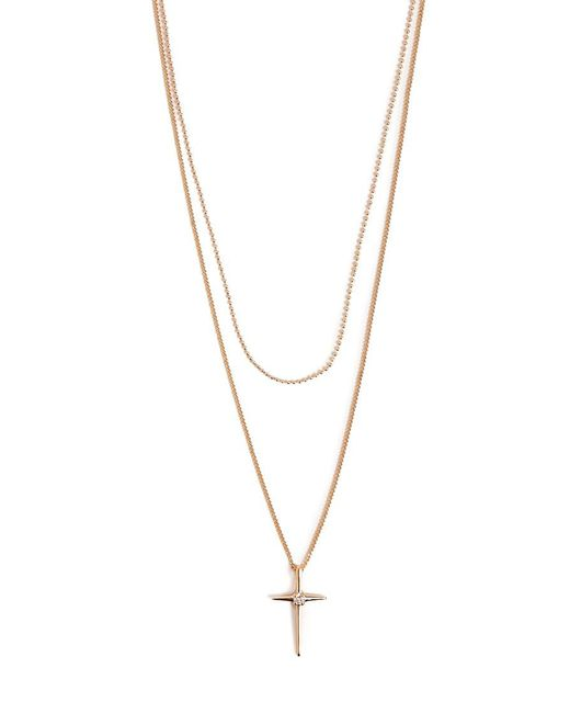 Forever 21 - Metallic Layered Cross Pendant Necklace - Lyst