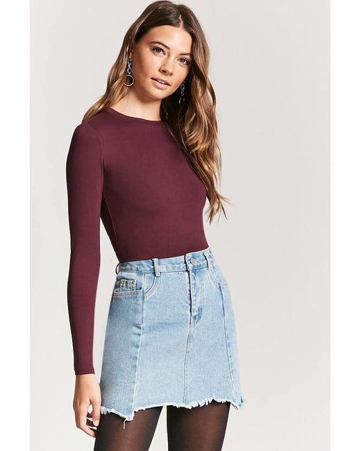 Forever 21 Long Sleeve Knit Top Lyst