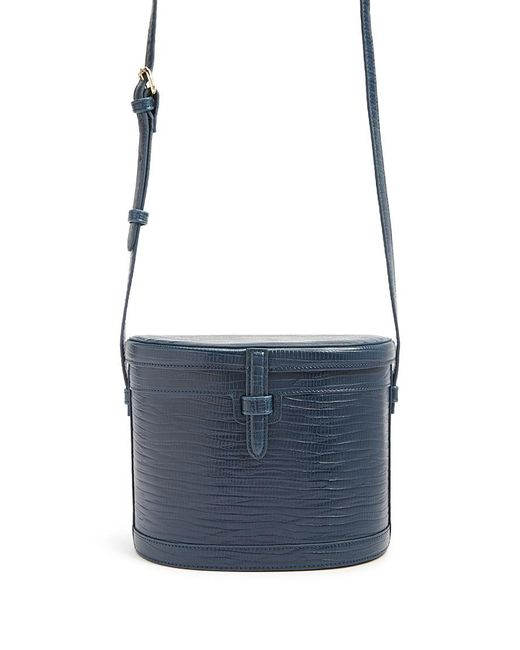 Forever 21 - Blue Faux Leather Cylinder Crossbody Bag - Lyst