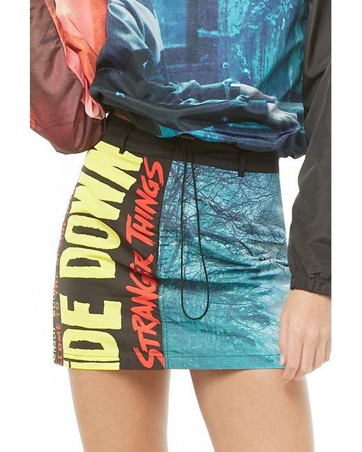 Forever 21 - Blue Stranger Things Mini Skirt - Lyst