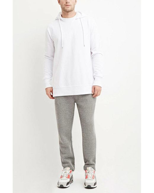 Forever 21   Gray Drawstring Textured Knit Joggers for Men   Lyst