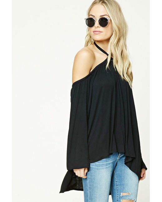Forever 21   Black Contemporary Open-shoulder Top   Lyst
