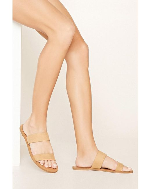 Forever 21 - Brown Faux Suede Sandals - Lyst