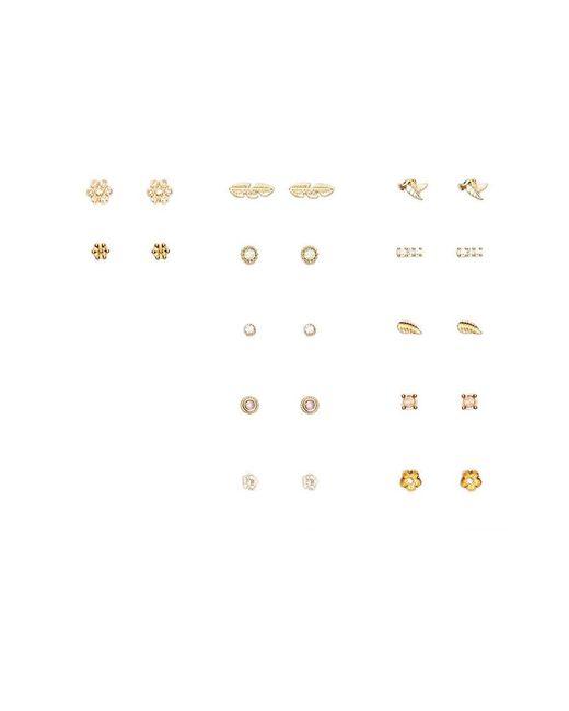 Forever 21 - Metallic Rhinestone Stud Earring Set - Lyst