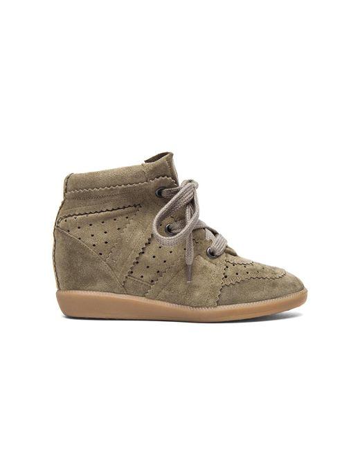 Isabel Marant - Brown Bobby Suede Wedge Sneakers - Lyst