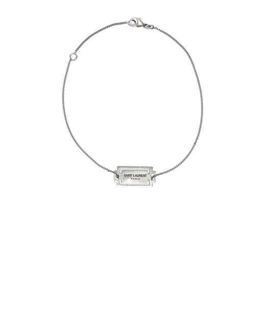 Saint Laurent | Metallic Logo Bracelet | Lyst