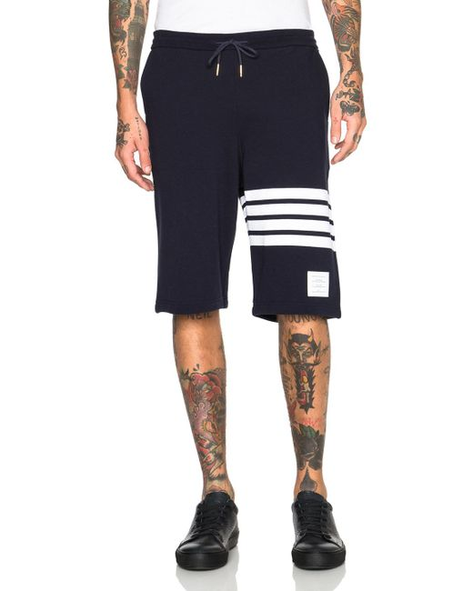 Thom Browne | Blue Classic Sweatshorts for Men | Lyst