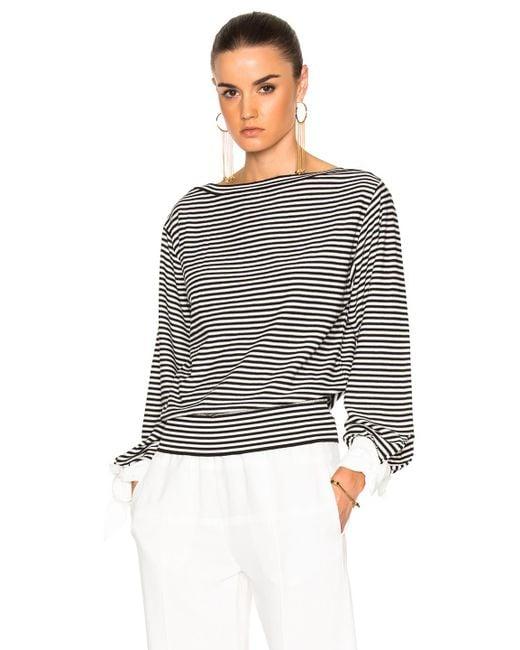 Chloé   Black Cotton Micro Stripe Sweater   Lyst