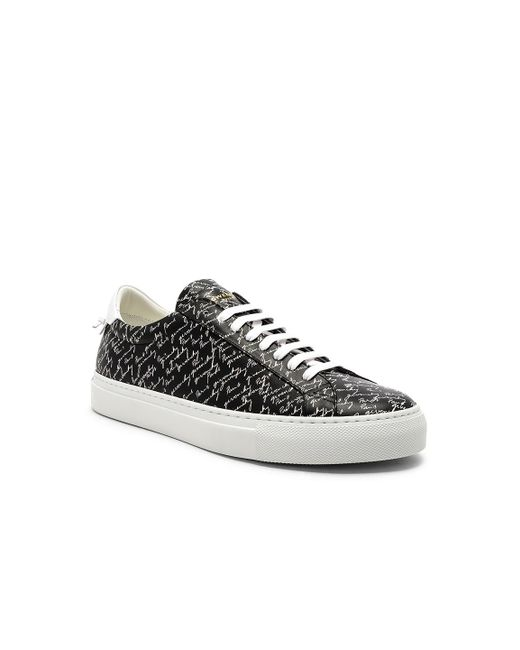 Givenchy - Black Leather Urban Street Sneakers - Lyst