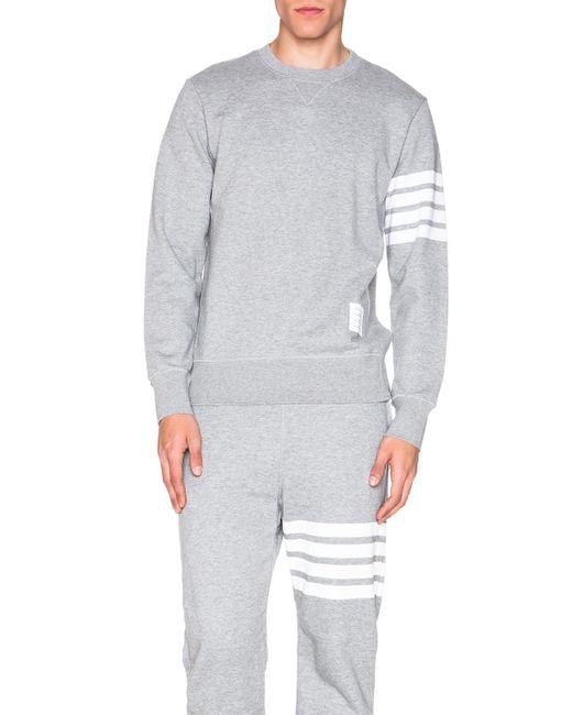 Thom Browne | Gray Classic Sweatshirt for Men | Lyst