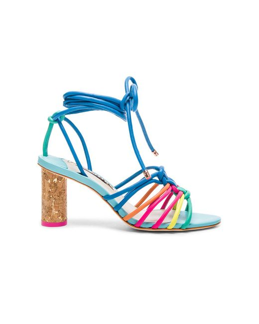 Sophia Webster | Blue Leather Copacabana Mid Sandals | Lyst