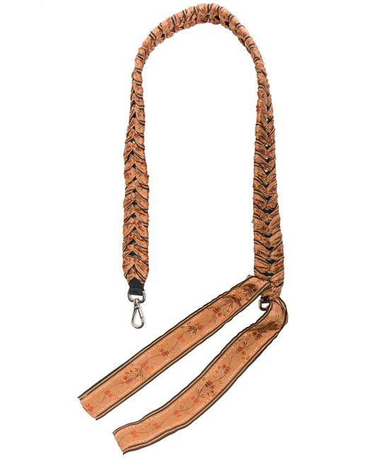 Fendi - Brown Ribbon Embellished Bag Strap - Lyst