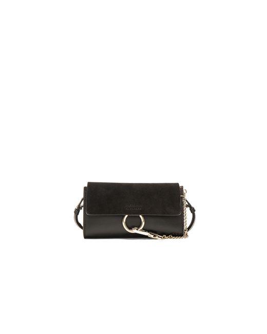 Chloé | Black Leather Faye Strap Wallet | Lyst