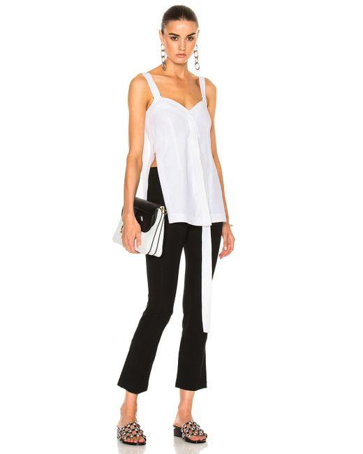 Calvin Klein | White Laro Dry Cotton Tailoring Top | Lyst