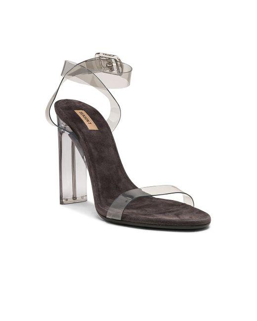 318ffeedd37 ... Yeezy - Multicolor Season 7 Pvc Ankle Strap Sandals - Lyst ...