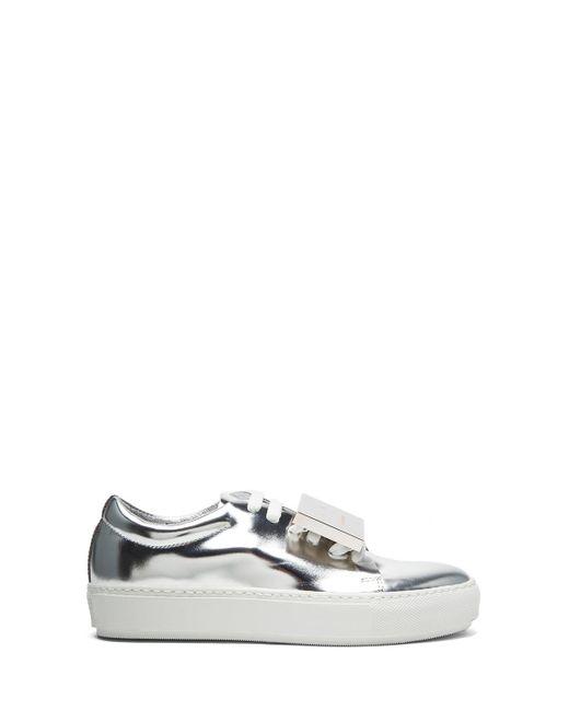 Acne | Adriana Metallic Leather Sneakers | Lyst