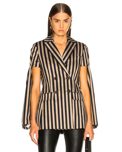 c40136adf38 Jonathan Simkhai - Black Stripe Double Breasted Jacket - Lyst ...