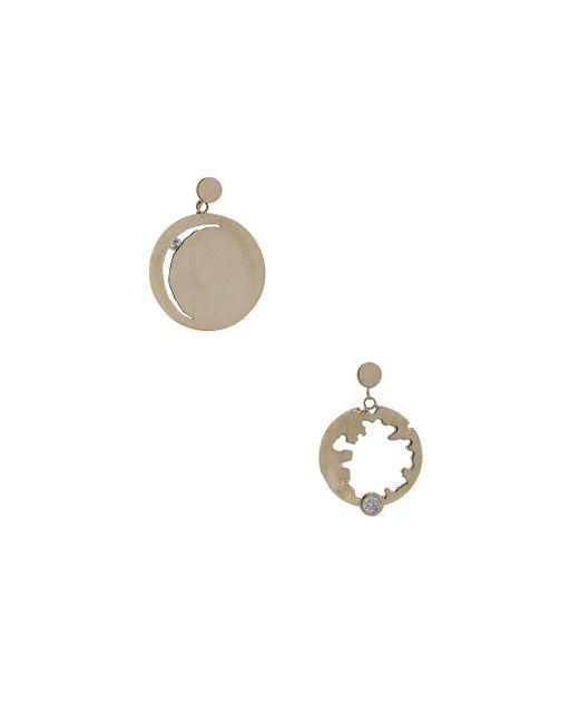 Wassonfine | Metallic Mismatched Statement Earrings | Lyst