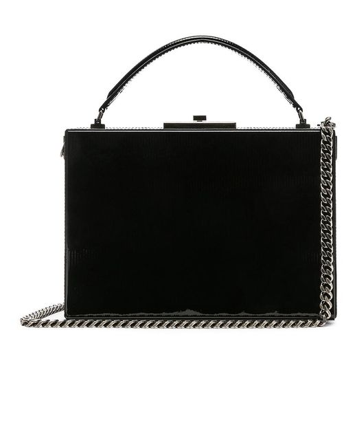 Saint Laurent - Black Nan Leather Box Bag - Lyst ... 4132ff6f844b0