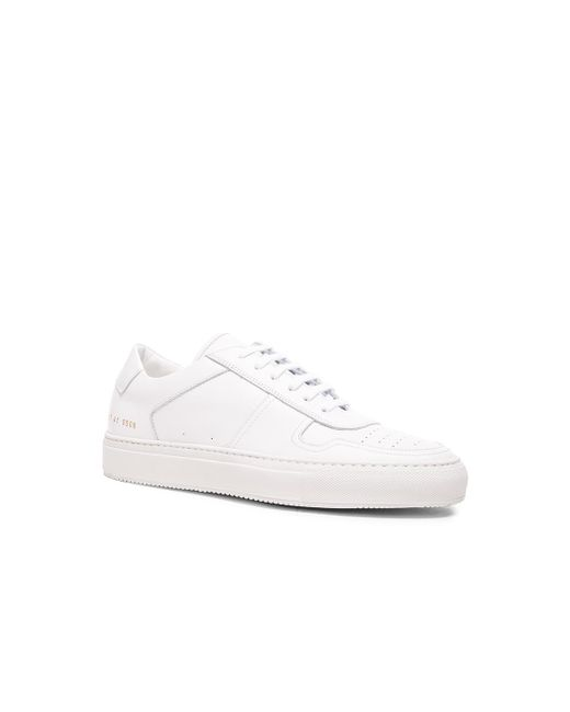 Common Projects - White Leather Bball Low Sneakers for Men - Lyst