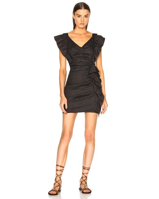 Étoile Isabel Marant - Black Topaz Chic Linen Strapless Dress - Lyst