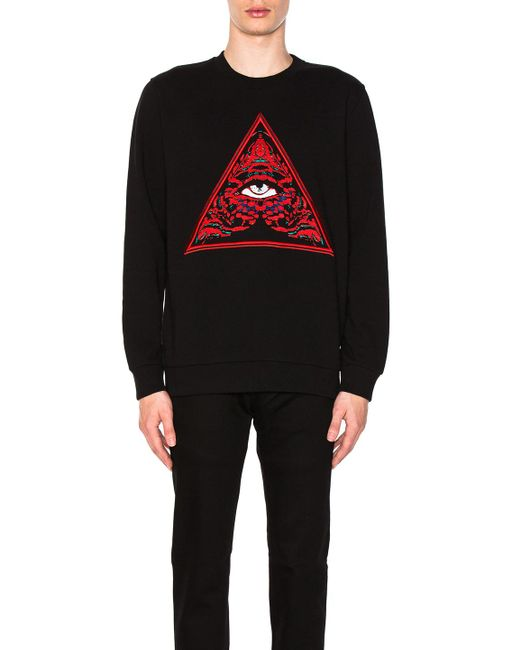 Givenchy | Black Triangle Realize Sweatshirt for Men | Lyst
