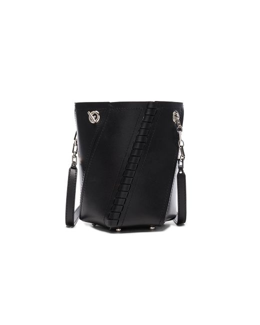 Proenza Schouler   Black Crossbody Hex Bucket Whipstitch Leather   Lyst