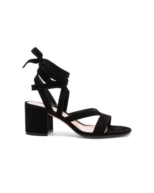Gianvito Rossi | Black Janis Low Sandals | Lyst