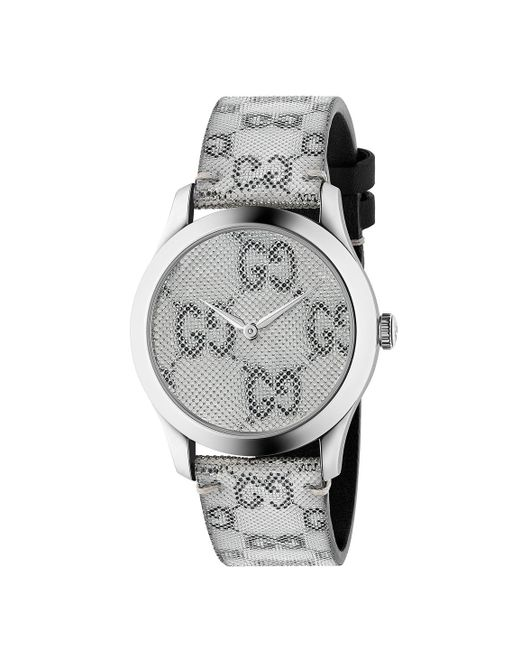 863454c777148 Gucci - Black 38mm G-timeless Holographic Watch - Lyst ...