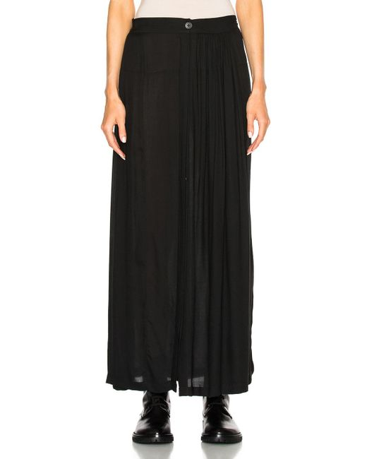 demeulemeester slit maxi skirt in black lyst