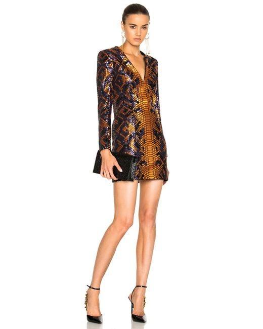 Balmain | Black Snake Print Mini Dress | Lyst