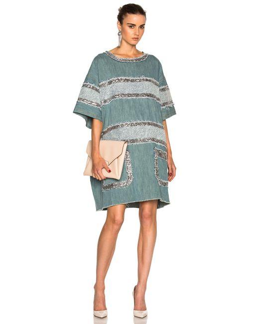 Faith Connexion   Blue Fleece Dress   Lyst