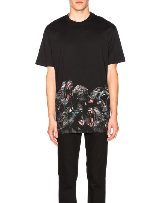 Givenchy | Black Printed Tee | Lyst