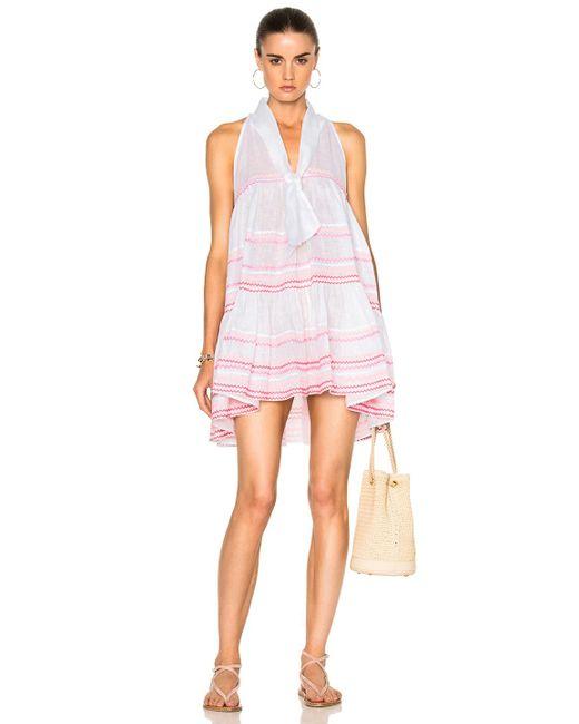 Lisa Marie Fernandez | White Sheer Mini Baby Doll Dress | Lyst
