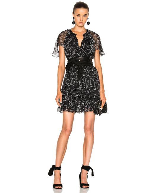 Lover   Black Tuberose Mini Dress   Lyst