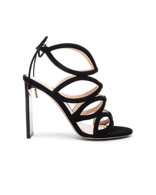 Nicholas Kirkwood | Black Suede Eyeliner Laceup Heels | Lyst