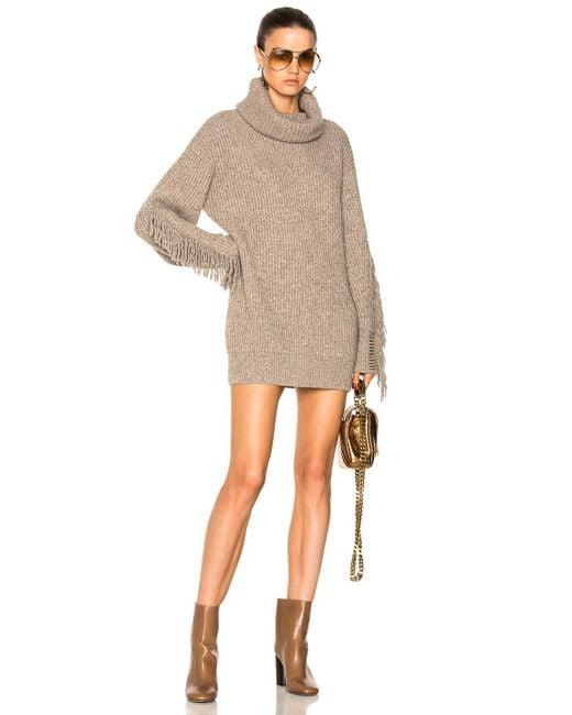 Stella McCartney | Natural Fringe Sleeve Turtleneck Sweater | Lyst
