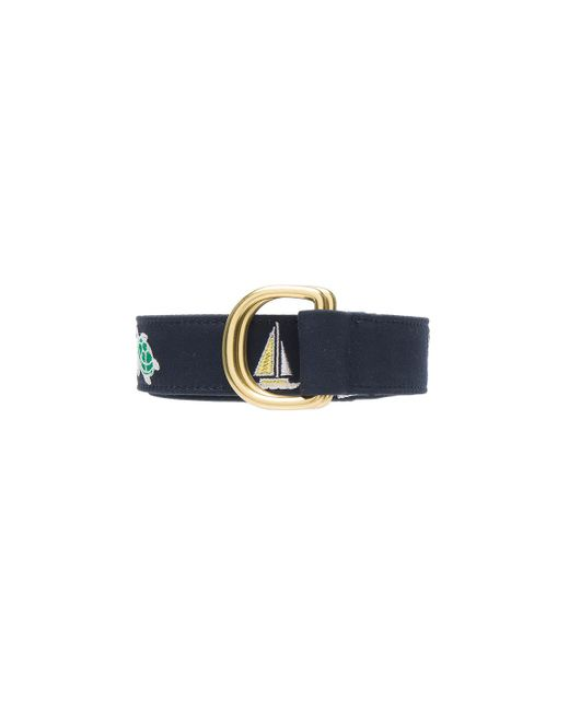 thom browne multicolor mix d ring belt in blue lyst