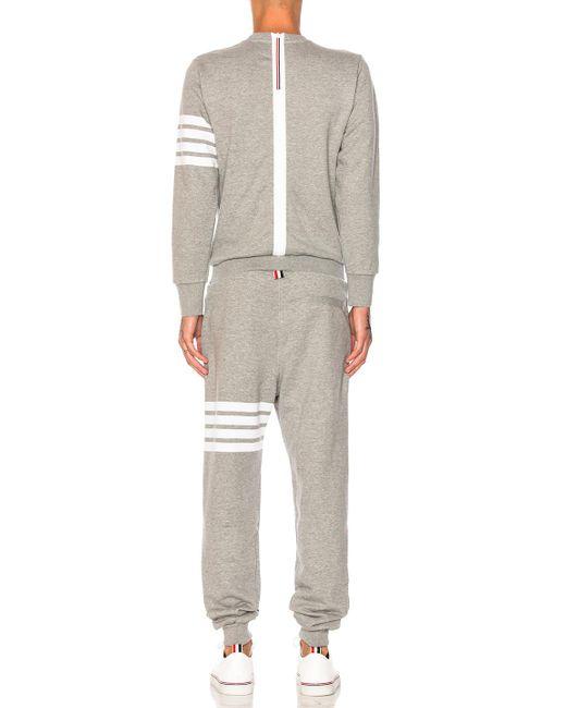Thom Browne Trompe L'oeil Sweatsuit In Gray For Men