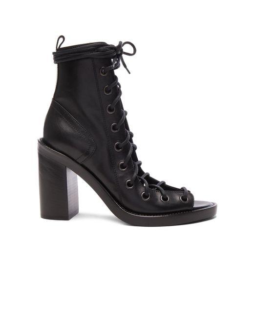 Ann Demeulemeester | Black Lace Up Heels | Lyst