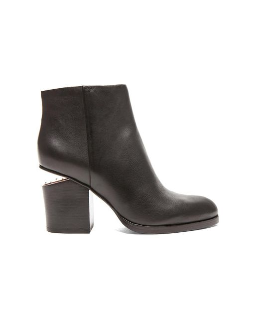 Alexander Wang | Black Gabi Ankle Booties With Rose Gold Hardware | Lyst