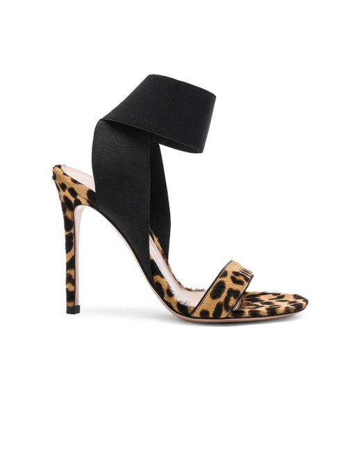 Gianvito Rossi Calf Hair Crisscross Ankle-Strap Sandals EPBYhYdWKC