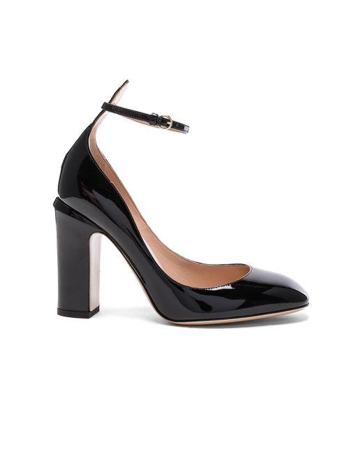 Valentino | Black Patent Leather Tan-go Pumps | Lyst
