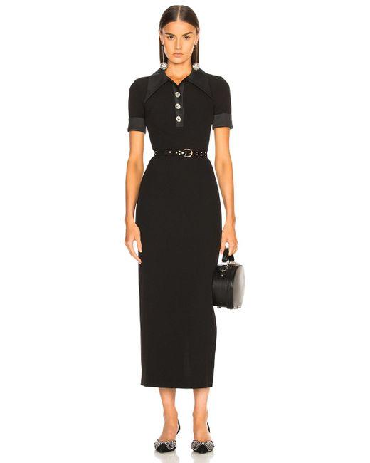 Alessandra Rich - Black For Fwrd Polo Dress - Lyst