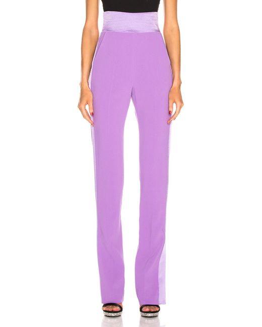 David Koma - Purple Side Panel Trouser Pant - Lyst