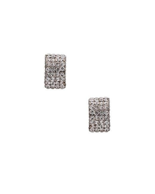 Magda Butrym | Metallic Large Silver Zirconia Earrings | Lyst