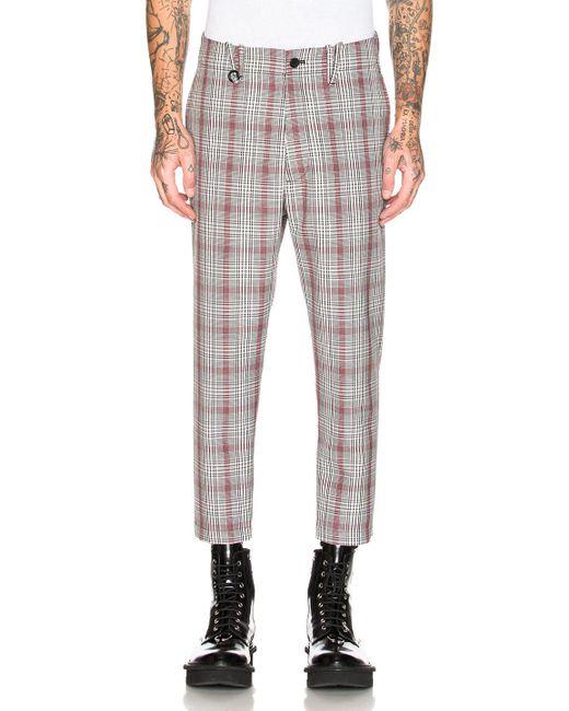 OAMC - Gray Cropped Zip Pants for Men - Lyst