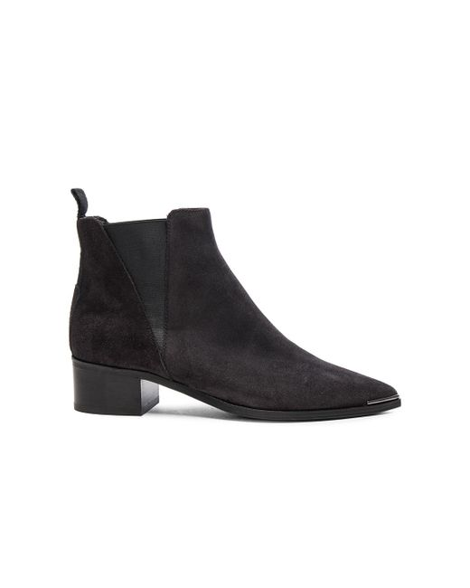 Acne | Blue Dark Navy Jensen Hairy Ankle Boot | Lyst